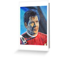 Shatner as Kirk in colored pencil  Greeting Card