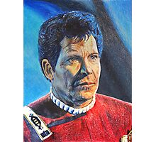 Shatner as Kirk in colored pencil  Photographic Print