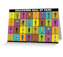 Halloween Hall of Fame POSTER Greeting Card