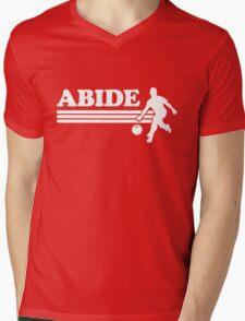 Abide. Bowling Mens V-Neck T-Shirt