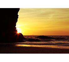 Sunset at Llangrannog Photographic Print