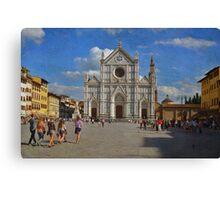 Piazza Santa Croce - Firenze Canvas Print