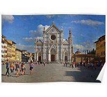 Piazza Santa Croce - Firenze Poster