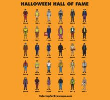 Halloween Hall of Fame T-SHIRT (Black text) by CFGbook