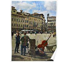 Piazza di Santa Croce Poster