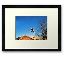Giant Leap Framed Print