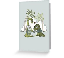 DiNERDsaur Love Greeting Card