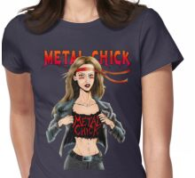 """Metal Chick """"Metalhead Forever"""" Womens Fitted T-Shirt"""