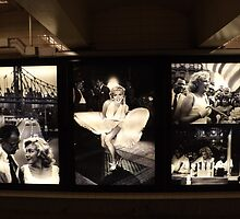 """Marilyn in New York"" Photography Exhibit, Sam Shaw Photographer, 42nd Street Subway Station, New York City by lenspiro"