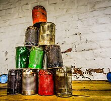 Rusty tin cans by Beverley Goodwin