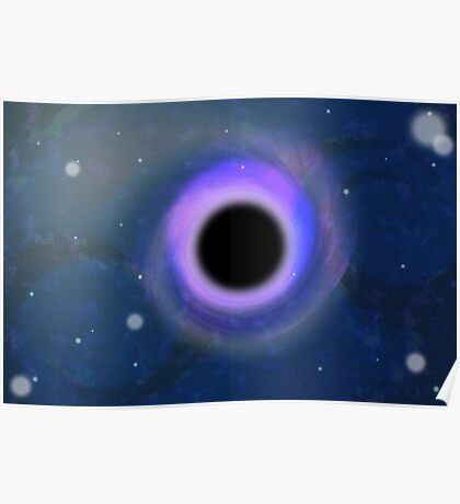 Mind the gap: black holes are this deep. Poster