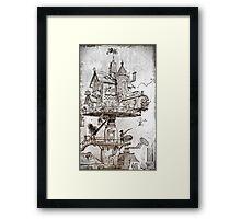 Aerial House Maison Framed Print