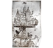 Aerial House Maison Poster