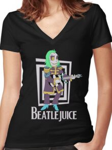 Beatlejuice Women's Fitted V-Neck T-Shirt