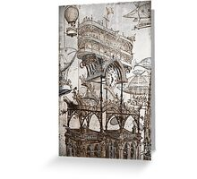 Aerial Central Station Paris Greeting Card
