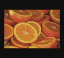 Closeup Of Sliced Oranges One Piece - Long Sleeve