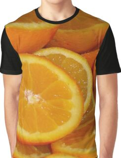 Closeup Of Sliced Oranges Graphic T-Shirt