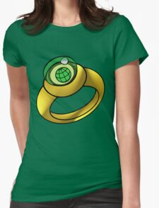 Planeteer Ring - Earth - Large image Womens Fitted T-Shirt