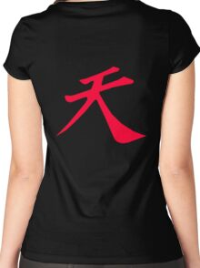 Street Fighter - Raging Demon Women's Fitted Scoop T-Shirt