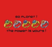 Planeteer Rings - Go Planet! - Black Font Kids Clothes