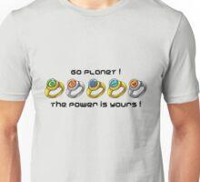Planeteer Rings - Go Planet! - Black Font Unisex T-Shirt
