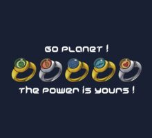 Planeteer Rings - Go Planet! - White Font One Piece - Long Sleeve