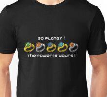 Planeteer Rings - Go Planet! - White Font Unisex T-Shirt