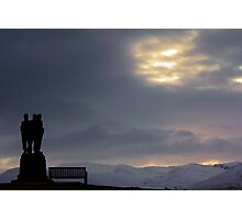 Royal Marine's Monument at Spean Bridge. Photographic Print