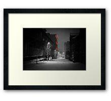 Severn Street in the Snow Framed Print