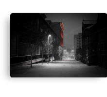 Severn Street in the Snow Canvas Print