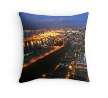 Vancoucer BC, Canada - City Night from the Sky Tower Throw Pillow
