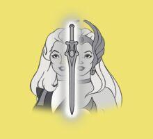 She-Ra Princess of Power - Adora/She-Ra/Sword - Black & White Baby Tee