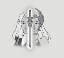 She-Ra Princess of Power - Adora/She-Ra/Sword - Black & White by DGArt