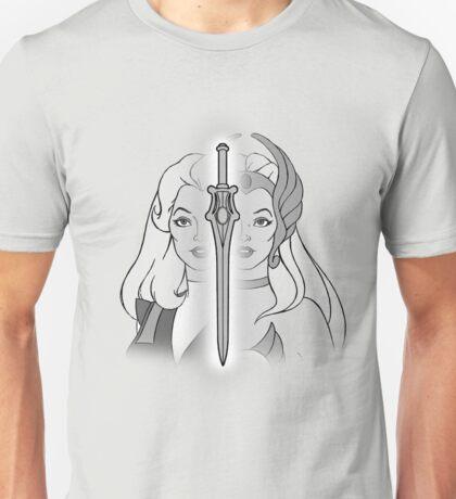 She-Ra Princess of Power - Adora/She-Ra/Sword - Black & White Unisex T-Shirt