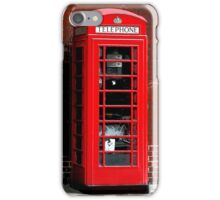 Red Phone Box London England UK iPhone Case/Skin