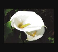 Beautiful White Calla Flowers In Bright Sunlight Kids Clothes