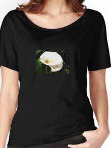 Beautiful White Calla Flowers In Bright Sunlight Women's Relaxed Fit T-Shirt