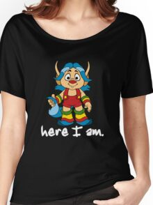 She-Ra Princess of Power - Loo Kee - Here I Am - White Font Women's Relaxed Fit T-Shirt