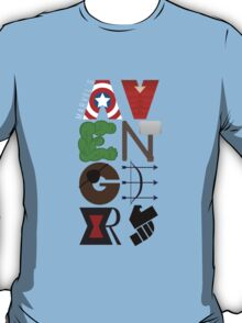 Avengers Typography T-Shirt
