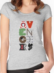 Avengers Typography Women's Fitted Scoop T-Shirt