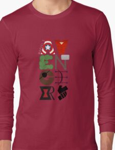 Avengers Typography Long Sleeve T-Shirt