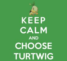 Keep Calm And Choose Turtwig by Phaedrart