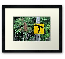 Canoe sign. Framed Print