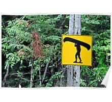 Canoe sign. Poster
