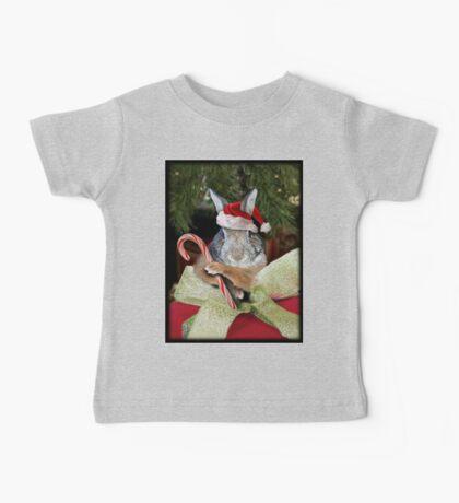 Christmas Bunny Rabbit Baby Tee