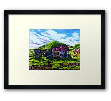 In the Townland of Gortnagory, Glencloy, County Antrim., Oil and acrylic on box canvas, 10 x 12 inch Framed Print
