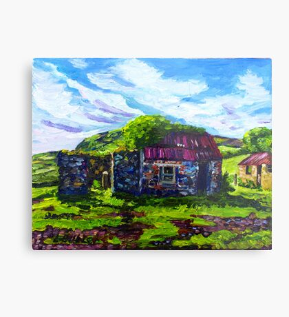In the Townland of Gortnagory, Glencloy, County Antrim., Oil and acrylic on box canvas, 10 x 12 inch Metal Print
