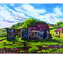 In the Townland of Gortnagory, Glencloy, County Antrim., Oil and acrylic on box canvas, 10 x 12 inch Photographic Print
