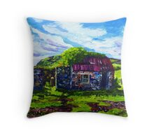 In the Townland of Gortnagory, Glencloy, County Antrim., Oil and acrylic on box canvas, 10 x 12 inch Throw Pillow