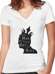 Moriarty, The Man with the Key Women's Fitted V-Neck T-Shirt